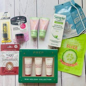 Skincare LOT - Simple, Pixi, Prep, Nugg & More